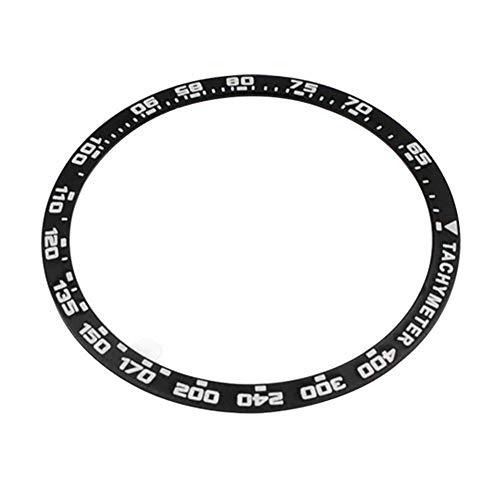 Bisel Anillo para Samsung para Galaxy Reloj , Bisel Anillo Adhesivo  Cubierta Anti Rasguños Acero Inoxidable Smartwatch Recambio Reloj Funda
