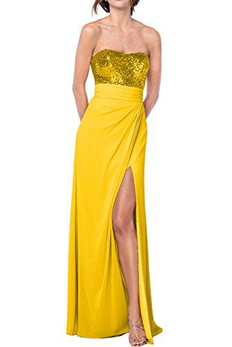d5592ffb0c0c Gorgeous Bride Fashion Empire Schlitze Trägerlos Prom Festlich Chiffon  Paillette Lang 2017 Damen Partykleider Abendkleider Lang