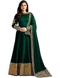 Zeel Fashion Women's Silk Dress Material (SF9B_Free Size_Rama Green)