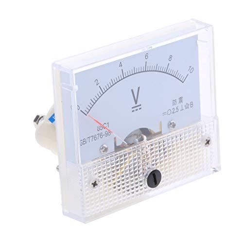 B Blesiya Dc Rechteck Amperemeter Stromtester Analog Panel Voltmeter, Messbereich 0-5 V bis 0-600 V - 0-10 V Ampere Panel