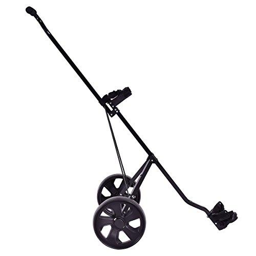 Blitzzauber 24 Chariot de Golf Cart de Golf Pliable 2 Roues Noir en Fer