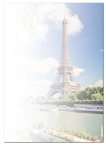 Paris Seine-touren (Motivpapier Briefpapier (Eiffelturm-5177, DIN A4, 100 Blatt) Aussichtsturm am Seine Ufer, Paris in Frankreich)