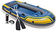 Intex Challenger Inflatable Boat Set with Oars + Inflator, 3-Person