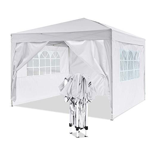 Yuebo gazebo da giardino gazebo richiudibile tenda gazebo 3x3m impermeabile padiglione da giardino (bianco)