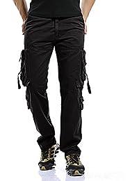 LANBAOSI Pantalon pour Homme Garçon Militaire Cargo Pantalon de Travail  Loisir Sport Vintage Multi Poches Coton e2029e067f3