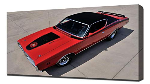 Lilarama 1971 Dodge Charger Super Bee V5 - Art Leinwandbild - Kunstdrucke - Gemälde Wandbilder