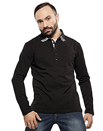 Polo T shirt - Black - Double Collar