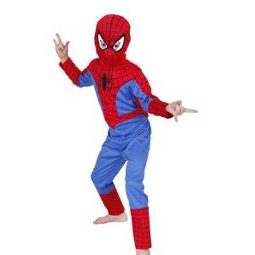 Kostüm Kinder Kinderspiel - Rubie's Spiderman Kostüm + Maske // für Kinder von 7-8 Jahre // Marvel Anzug Jungen Kinder Spielen Geschenk Fasching Karneval Verkleiden Verkleidung Overall Spider-Man