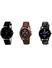 Watch Me Gift Combo Set Of Analog Watches For Men And Boys AWC-008-AWC-002-WMC-002 AWC-008-AWC-002-WMC-002omtbg