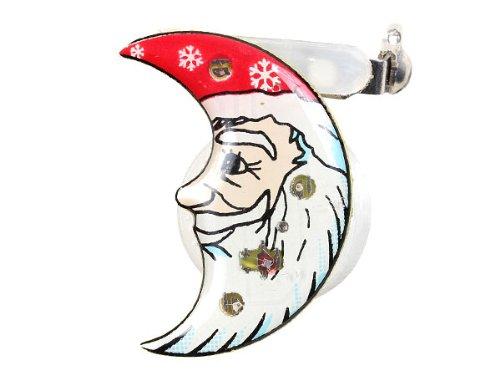 Blinki LED Anstecker Blinky Brosche LED Pin Button viele Motive, wählen:Weihnachtsmann Mond 58