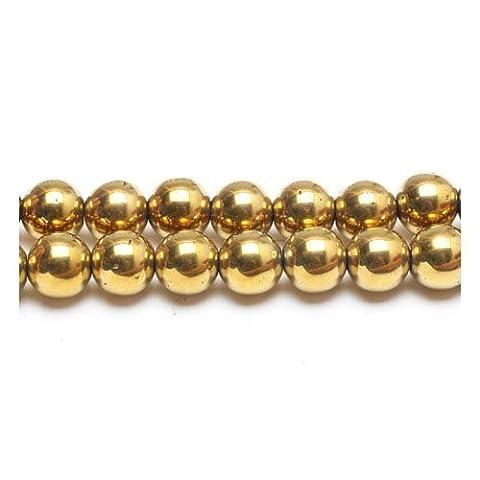 Strand Of 38+ Golden Hematite (Non Magnetic) 10mm Plain Round