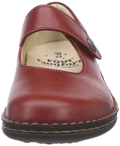 Finn Comfort Laval, Chaussons femme Rouge - Rot (Campari Arena)