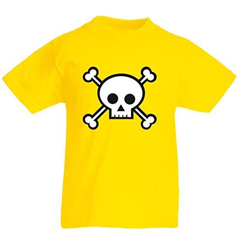Kids Caribbean Sea Bekleidung (Printmeashirt Unisex, Kinder T-Shirt Gelb gelb XXX-L-Jahre 14/15)