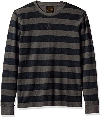Burnout-thermal Shirt (Lucky Brand Herren Long Sleeve Stripe Thermal T-Shirt, Multi, Klein)