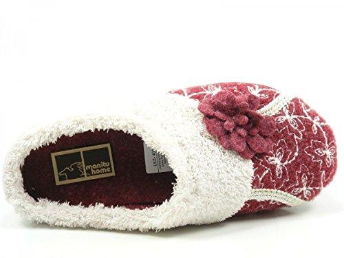 Manitu 320513-9 donna pantofole Rot