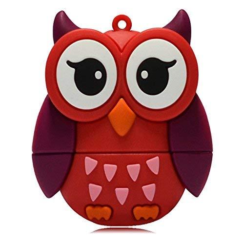 818-shop no13600080016 hi-speed 2.0 usb pendrive 16gb uovo forma civetta uccello gufo rosso