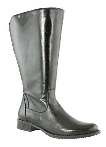 JJ Footwear Damen Stiefel Leder Mannheim XXL Schwarz Dream