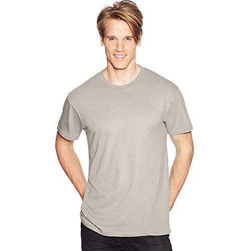 Hanes Mens Nano-T T-Shirt Sand