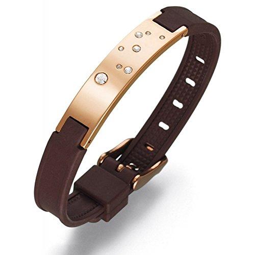Magnetarmband Jupiter Limited Germanium Stein Ge32 - Das 10 mm breite Magnetarmband ist ein modisch elegantes als auch sportliches Schmuck Accessoire. Passend für einen Handgelenksumfang von 14cm bis 19cm., Farbe:gold