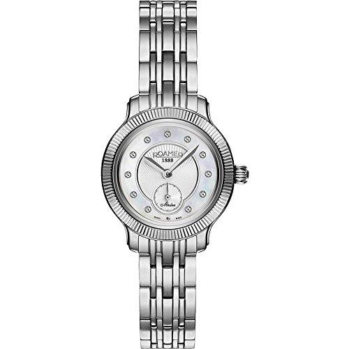 Roamer della Svizzera orologio da donna Medea 28mm mop quadrante orologio al quarzo 625855412960