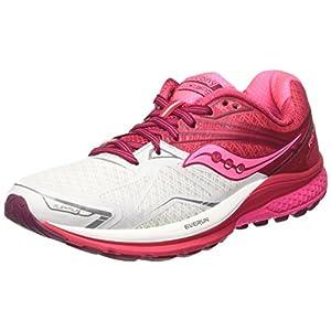Saucony Ride 9, Zapatillas de Running para Mujer, (Rosa/Blanko / Baya Rojo), 37.5 EU
