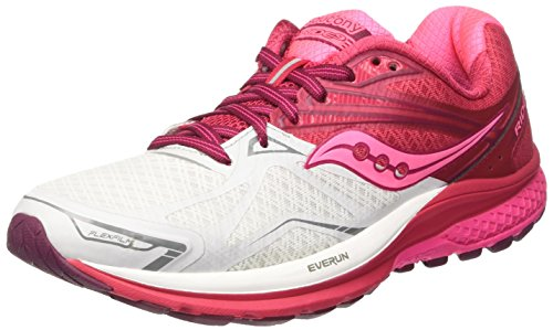 Saucony Ride 9, Scarpe Running Donna Rosa (White/pink/berry)