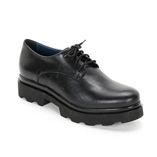 ALESYA by Scarpe&Scarpe - Schnürschuhe mit Extraleicht-Sohle, Flache Schuhe, Leder - 40,0, Schwarz
