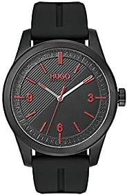 Hugo Boss Men'S Black Dial Black Silicone Watch - 153