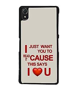 PrintVisa Romantic Saying High Gloss Designer Back Case Cover for Sony Xperia Z1 :: Sony Xperia Z1 L39h :: Sony Xperia Z1 C6902/L39h :: Sony Xperia Z1 C6903 :: Sony Xperia Z1 C6906 :: Sony Xperia Z1 C6943
