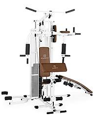 Klarfit Ultimate Gym 3000 3500 5000 7000 Kraftstation Fitnessstation Trainingsstation Ganzkörpertraining über 30 bzw. 50 Übungen inkl. Gewichten schwarz oder weiß