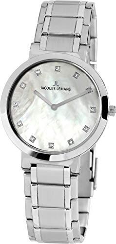 Jacques Lemans Orologio Analogico Quarzo Donna con Cinturino in Acciaio Inox 1-1998B