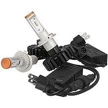Kit Full LED, H7,80W, 12V, 24V, 8chip Phillips z-es, canbus no error, con 8chip Philips Lumileds z-es de 10W, superluminoso 3200lúmenes cada foco, casquillo desmontable extraíble de fácil instalación, ideal para las luces largas y de cruce del coche (12V) y del camión (24V)