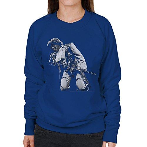 James Brown Playing At Wembley 1991 Women's Sweatshirt Royal Blue