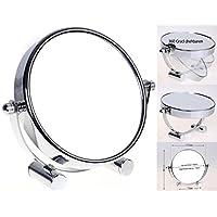 HIMRY Designed Espejo/espejo cosmético, 360° drehbar. zweiseitig: normal y 10–aumentos. Espejo, espejo de afeitar, cuarto de baño spiegel. Cromado, kxd3104–10x