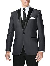 Suit Me hombress 3 Piece Suit 1 Bot¨®n vestido de boda traje chaqueta Blazer chaleco pantalones