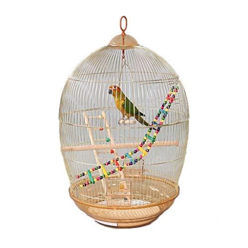 Vintage Metall Vogelkäfig Papageienkäfig Throstle Tiger Skin Bailing Große Modell Ornamental Vogelkäfig Abnehmbare Gold