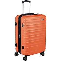 AmazonBasics - Maleta rígida giratoria - 68 cm, Naranja fuerte