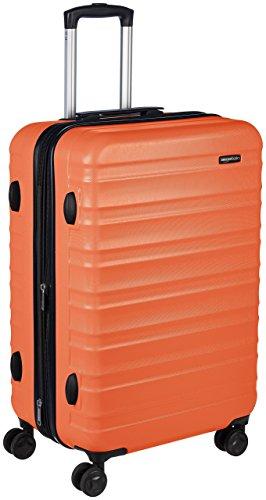AmazonBasics Valise rigide à roulettes pivotantes, 68 cm, Orange