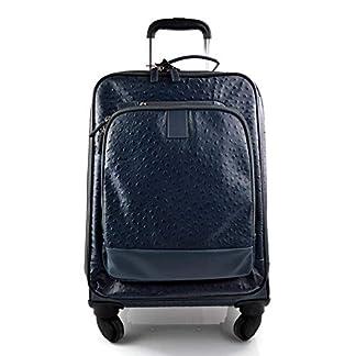 Maleta de avion in piel azul trolley rígida maleta de cuero bolso de cuero de viaje hombre mujer bolso de cabina bolso con ruedas