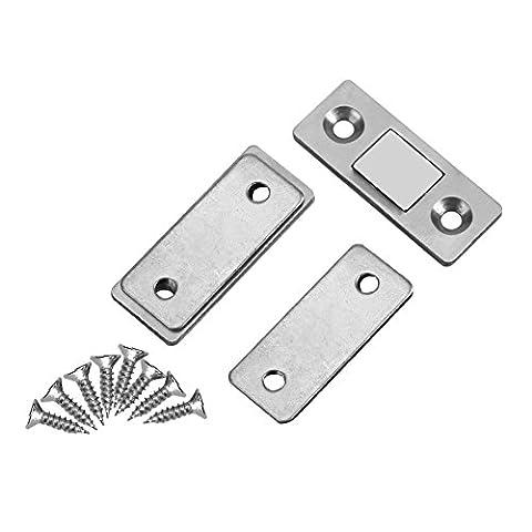 2Pcs Tür Fang Verriegelung ultra dünner starker magnetischer Fang mit Schrauben für Hauptmöbel Schrank Schrank