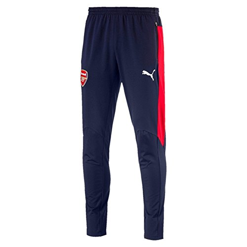 PUMA Herren AFC Training Pant Tapered with Two Zipped Pockets Hose, Peacoat-high Risk red, M