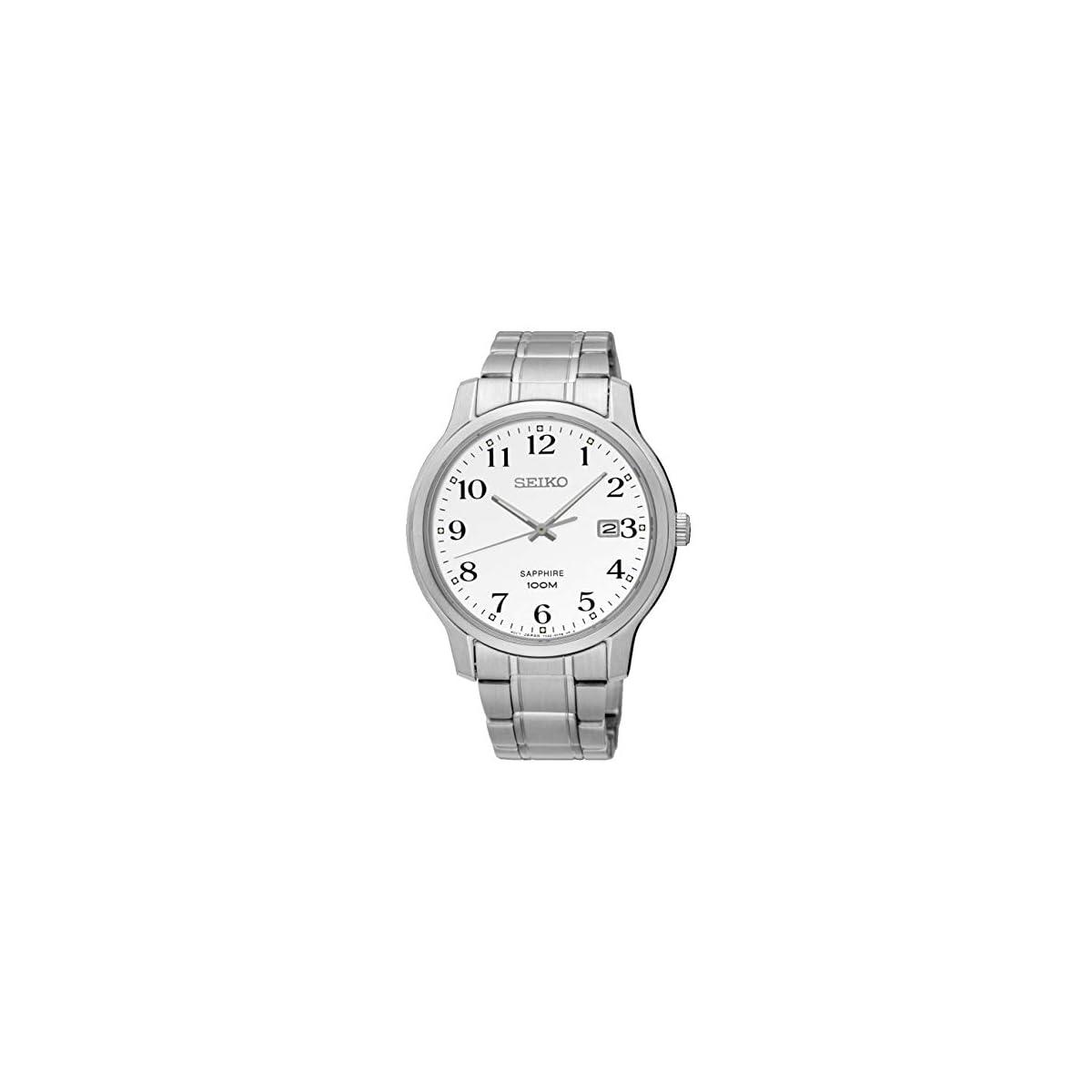 41srT16x0HL. SS1200  - Seiko Reloj Analógico para Hombre de Cuarzo con Correa en Acero Inoxidable SGEH67P1