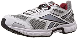 Reebok Mens Running Ride Lp Flat Grey,White,Silver,Ex.Red and Black Running Shoes - 10 Uk