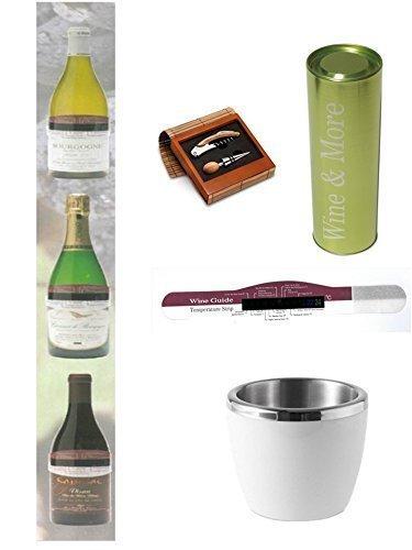 Weinthermometer Conny Clever Wine & More + Weinkühler + Weindose + Bambus Weinset das Geschenk 2015...