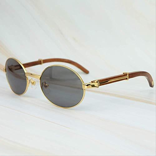 LKVNHP Hohe Qualität Retro Runde Ovale Sonnenbrille Full Frame Gold Allgemeine Holz Markenname Designer Carter Brille Männer Und Wen Metall Klassische Brillen