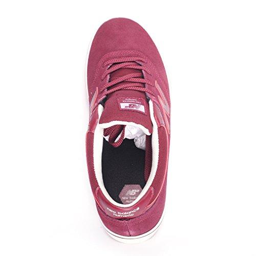 New Balance Numeric Quincy 254 Scarpe in pelle scamosciata, colore: bordeaux Rosso (Camoscio Bordeaux)