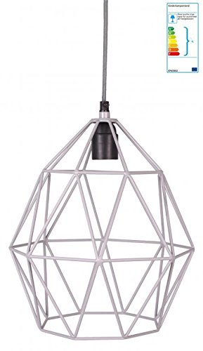 Pendellampe Diamant grau Industielampe (Home Depot Pendelleuchte)