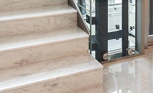 Non-Slip Strips Kara Grip Pro Internal Stairs 18.3 lfm Reel 3 cm Transparent, Even For Dog and Child. Instead of Mats Or Stair Carpet To Prevent Slipping, Stocking-Friendly Self-Adhesive Wood Tiles Granite And Marble Stairs