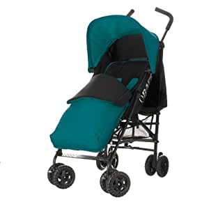 Obaby Atlas Black/Grey Stroller and Turquoise Footmuff