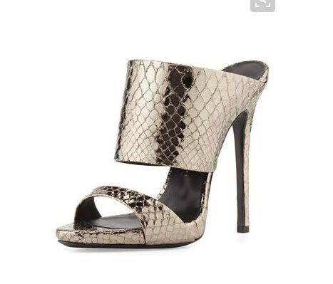 Sandales À Talons Hauts Fashion À Talons Pure Color Rome À La Mode Avec Sandales À Talons Hauts Cool Mop Bronze Texture